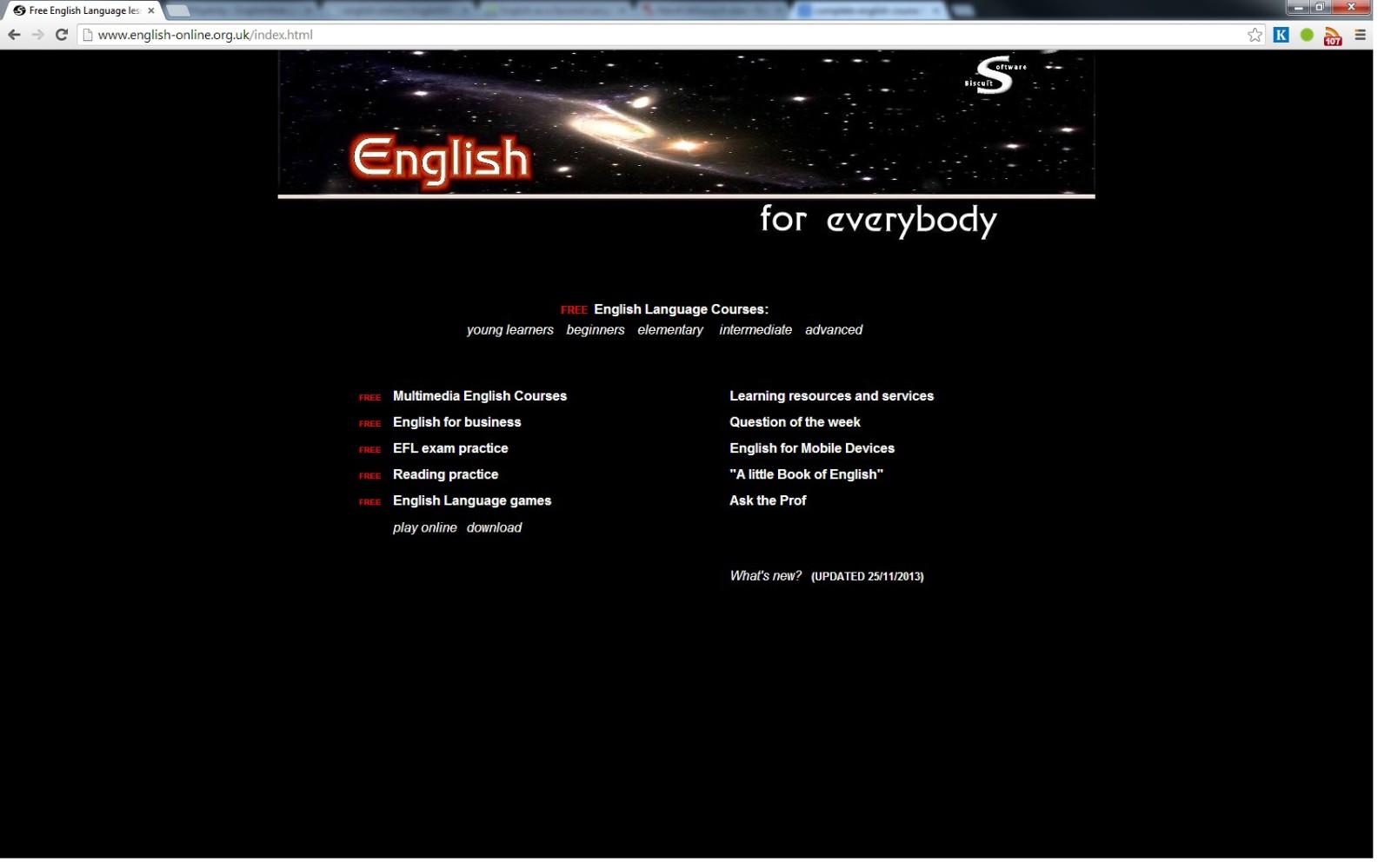 kurzy angličtiny - online a zdarma